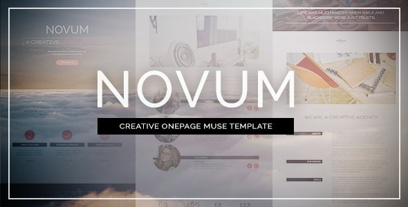 Novum - One Page Muse Template - Creative Muse Templates