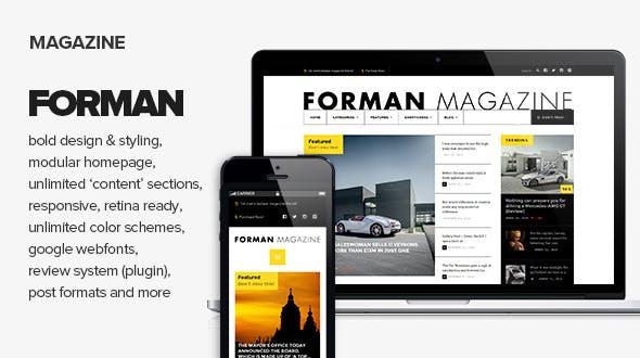 Forman - Responsive News, Magazine and Blog Theme