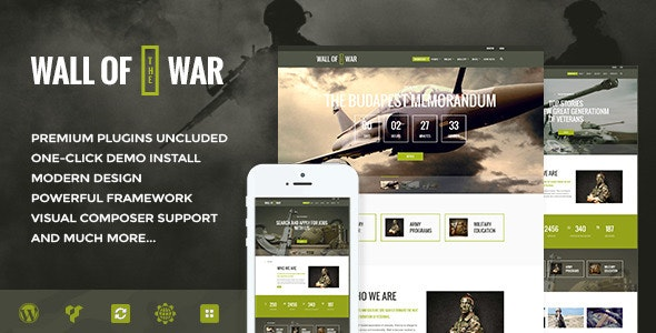 Military Service & Veterans Club Volunteer WordPress Theme - Activism Nonprofit