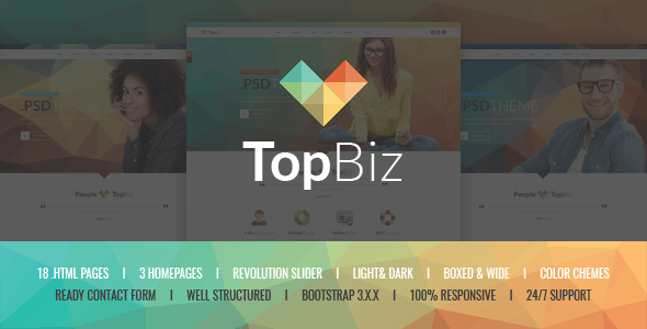 TopBiz - Responsive Corporate HTML5 Template - Corporate Site Templates