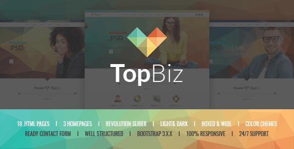 TopBiz - Responsive Corporate HTML5 Template