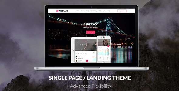 AppStack - One Page App Theme - Software Technology