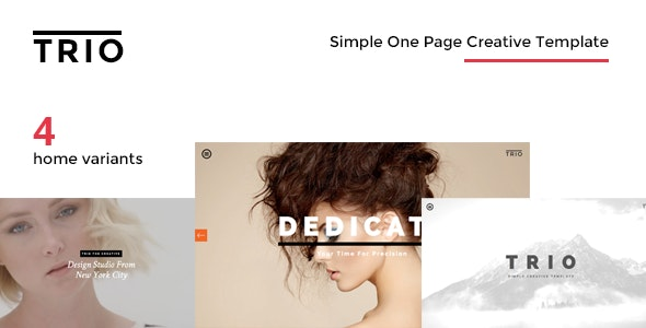 TRIO - Simple One Page Creative Drupal Theme - Creative Drupal