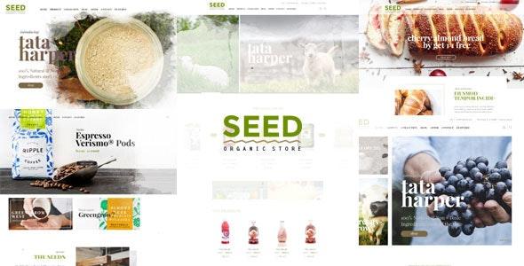 SEED - Organic PSD Template  - Food Retail