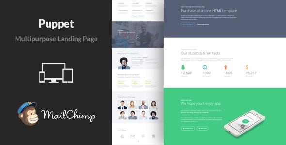 Puppet - Multipurpose Landing Page Template - Landing Pages Marketing