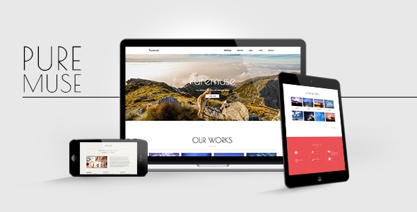 Puremuse - Clean Muse Template for Portfolios & Creatives - Creative Muse Templates