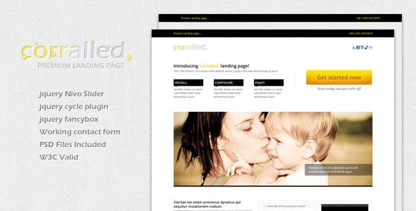Corralled Landing Page