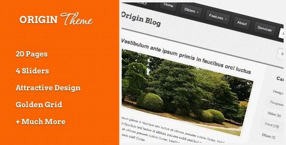 Origin HTML Theme - Business Corporate