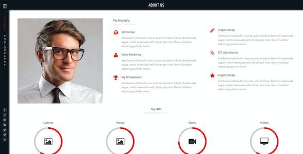 Azura - Photography Responsive website template