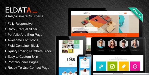 Eldata -  Responsive HTML Website Template - Portfolio Creative