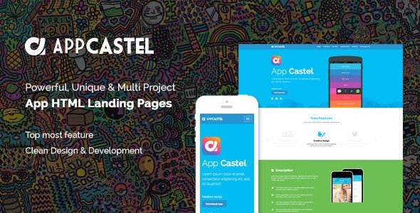 AppCastle - Bootstrap 3 App Landing HTML Template - Landing Pages Marketing