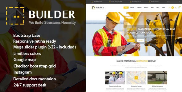 Builder - Responsive Construction drupal theme