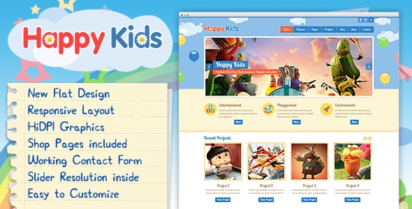 Happy Kids - Multipurpose HTML Template - Children Retail