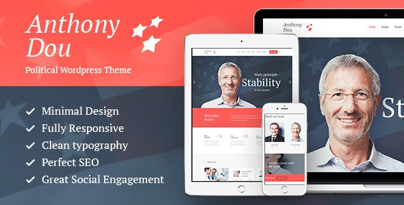 Unite - A Modern Political Candidate & Social Party WordPress Theme - Political Nonprofit