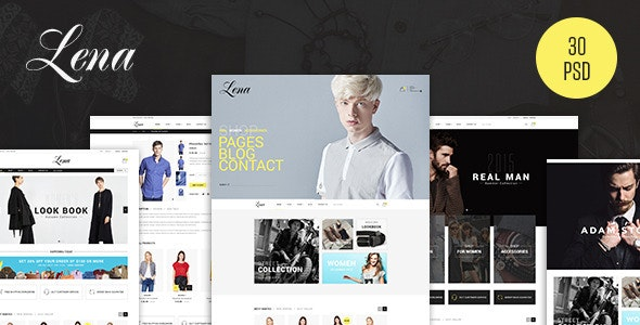 Lena - Fashion eCommerce PSD Template - Fashion Retail