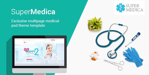 Super Medica | Multipage Medical PSD Template - Health & Beauty Retail