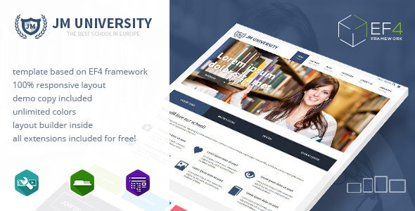 JM University - multipurpose education template - Joomla CMS Themes