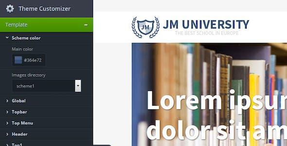 JM University - multipurpose education template