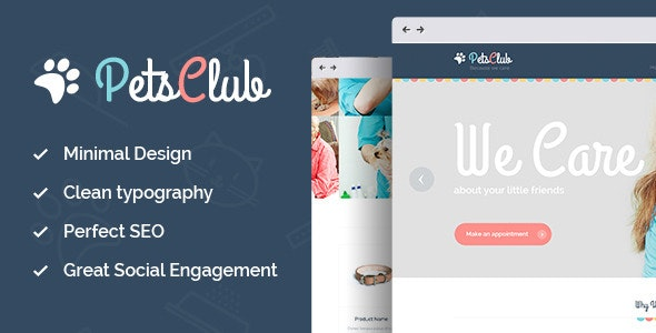 Pets Club - Domestic Animals Care, Shop & Veterinary WordPress Theme - Retail WordPress