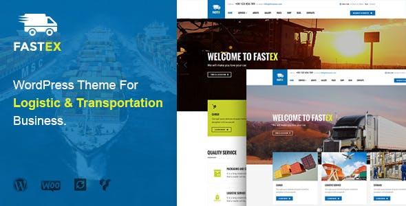 Logistics WordPress Theme   FastEx
