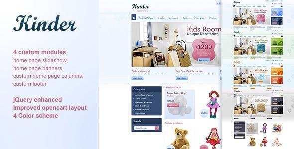 Kinder - 4 in 1 Premium OpenCart template