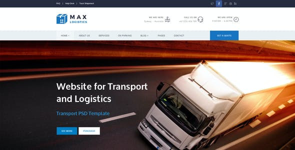 Max Logistics - Responsive HTML Template