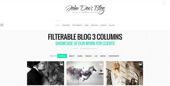 John Doe - Clean Wordpress Blog Theme