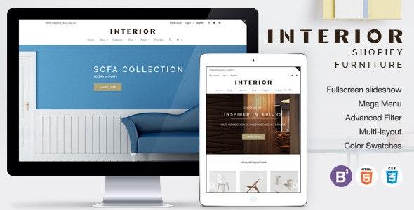 Responsive Minimalist Shopify Theme for Interior - Entertainment Shopify
