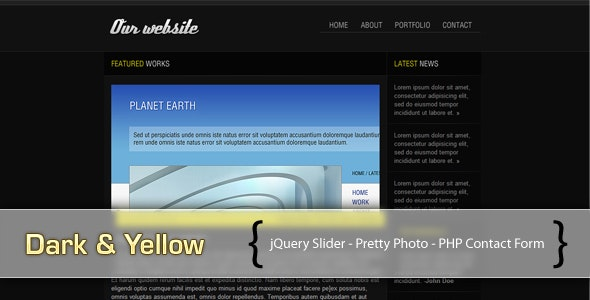 Dark & Yellow - Portfolio Creative