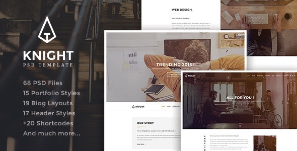 Knight - Corporate and Shop PSD Template - Corporate Photoshop