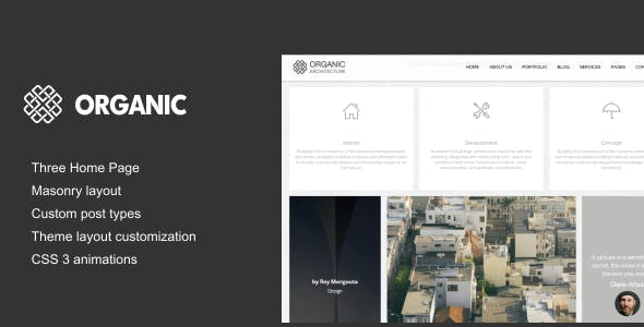 Organic - Architecture & Creatives WordPress Theme