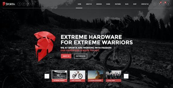 Sporta - Extreme Sports PSD Template