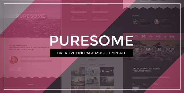 Puresome - One Page Muse Template - Creative Muse Templates