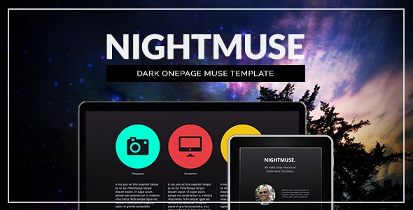 Nightmuse - Dark Muse Template for Portfolios & Creatives - Creative Muse Templates