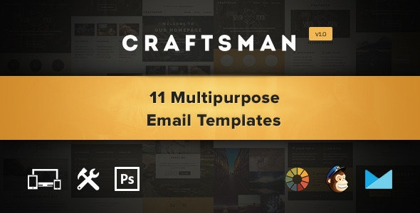 Craftsman - Email, Eshot, Notification Template - Email Templates Marketing