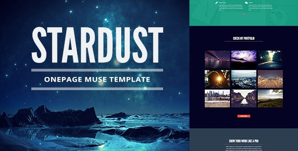 Stardust - One Page Muse Template - Creative Muse Templates