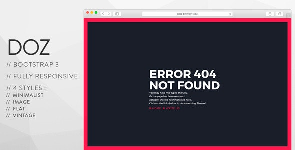DOZ - Creative 404 Pages - 404 Pages Specialty Pages