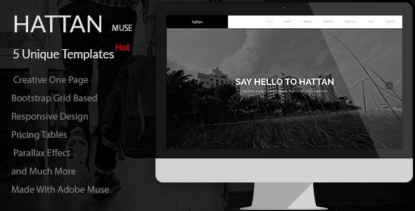 Hattan - Creative Onepage Multipurpose Template - Creative Muse Templates