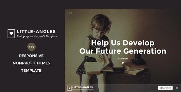Little Angles - Multipurpose Non Profilt Template - Charity Nonprofit