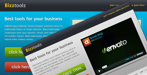 Bizztools - Business Landing Page
