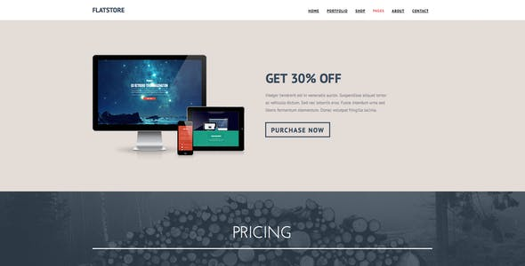 Flatstore - eCommerce Muse Template for Online Shop