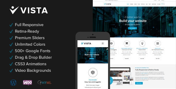 Vista - Responsive Multi-Purpose Wordpress Theme - Business Corporate
