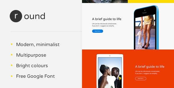 Round — Multipurpose Template  - Creative Photoshop