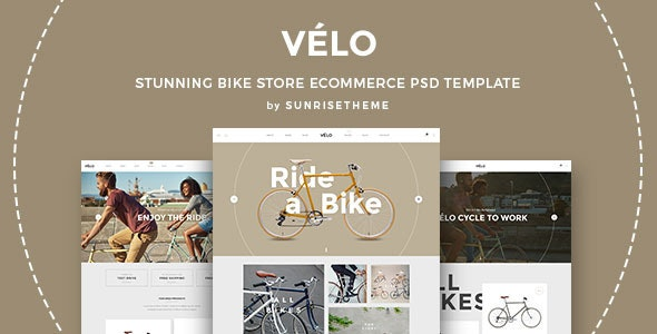 Velo - Stunning Bike Store eCommerce PSD Template - Retail Photoshop