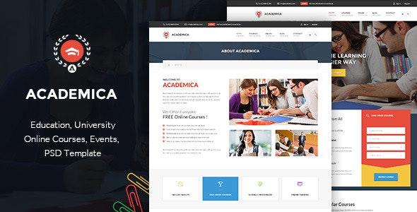 Academica -  Educational PSD Theme - Corporate Photoshop