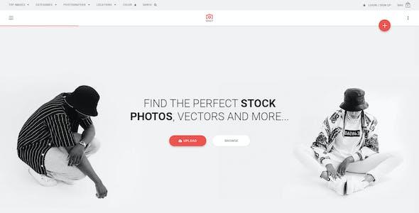Shot | Premium Photos PSD Template
