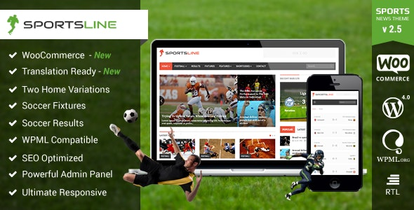 Sportsline -  News & Magazine WordPress Theme - News / Editorial Blog / Magazine