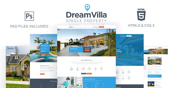 DreamVilla - Single Property HTML Template - Business Corporate