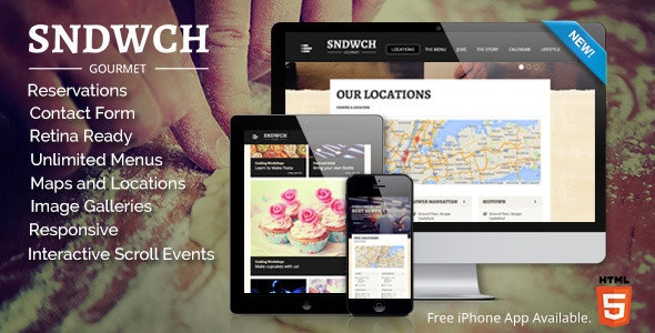 SNDWCH - Restaurant WordPress Theme - Restaurants & Cafes Entertainment