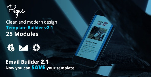 Pegas Email Template + Emailbuilder 2.1 - Newsletters Email Templates